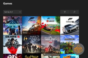 Xbox One games and apps dashboard