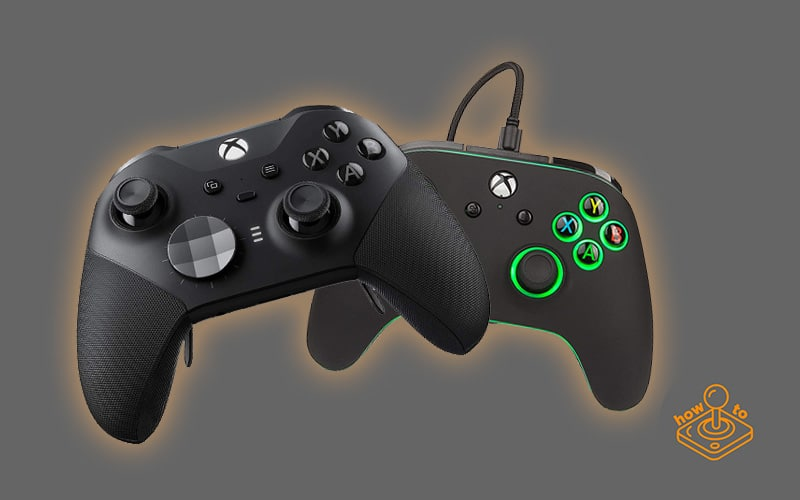 xbox elite 2 controller and powera wired controller