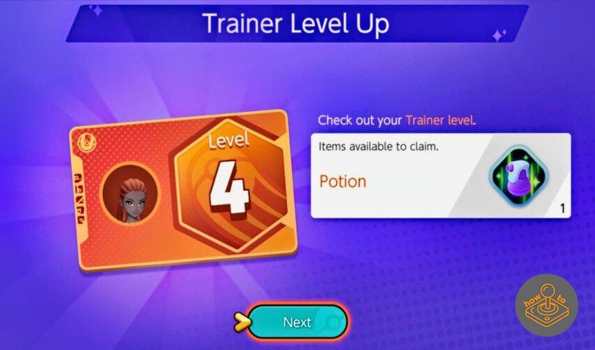pokemon unite trainer level